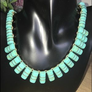 .950 Mexico Silver Turquoise Vintage Necklace